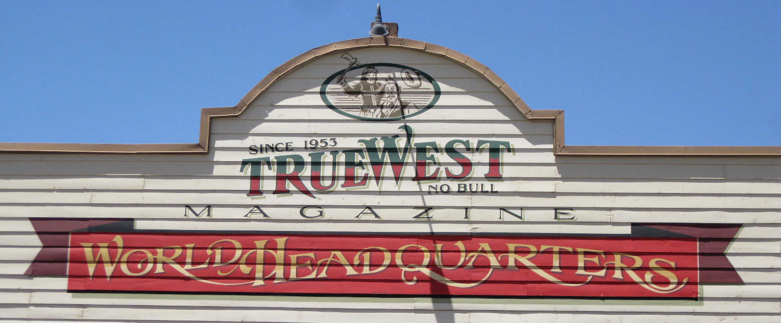 True West Magazine sign